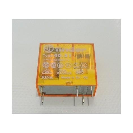Relais circuit imprimé CI 1 contact inverseur rt 10A 110Vac agni pas 3.5mm FINDER 403181100000