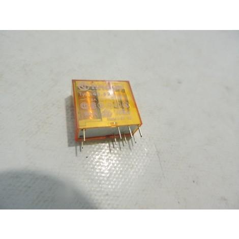 Relais circuit imprimé embrochable 8A 110VAC 2 contacts inverseur 2RT AGNI FINDER 405281100000