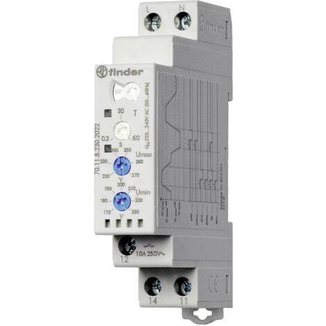 Relais de contrôle coupure 250 V/AC - Max. 400 V/AC - 10 A Finder 70.11.8.230.2022