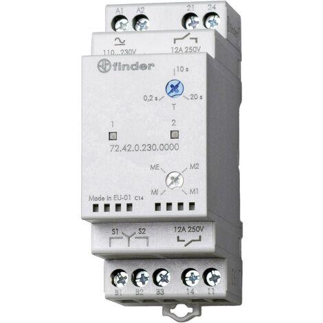 Relais de contrôle pour pompes 110 - 240 V DC/AC 2 NO (T) indépendants Finder 72.42.0.230.0000 S74327