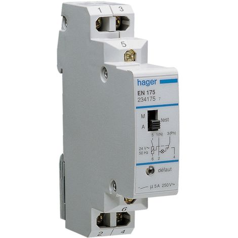 Relais dsc vmc gaz tension dentrée 24 v~50hz