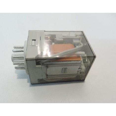 Relais embrochable 10A 3 contacts inverseur rt 110V ac bouton test + indicateur mécanique + led série 60 FINDER 601381100054