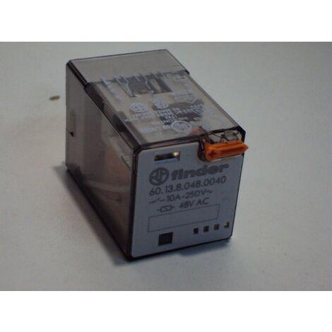 Relais industriel embrochable 10A R3rt 48ac bt+im FINDER 601380480040