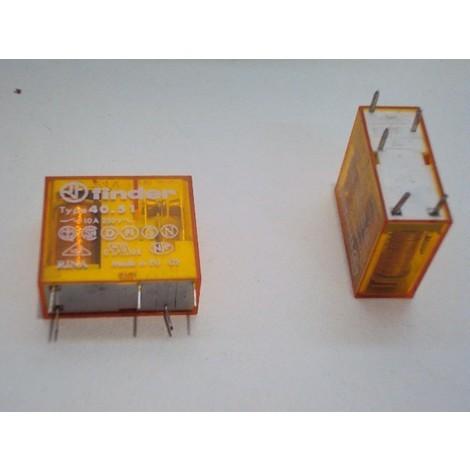 Relais miniature 10A embrochables pas 5mm Rci 1rt 24ac pour circuit imprimé FINDER 405180240000