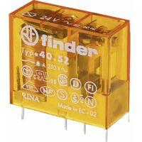 Relais miniature 40.52 pour circuit imprimé - 12 V/AC - 2 contacts - Série 40 - 8A - Pas de 5 mm - AgNi