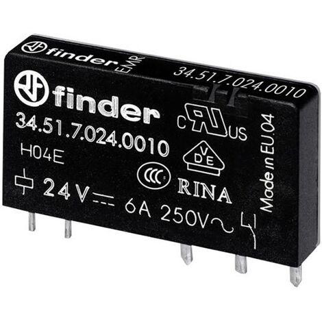 Relais pour circuits imprimés Finder 34.51.7.012.5010 34.51.7.012.5010 12 V/DC 6 A 1 inverseur (RT) 1 pc(s)