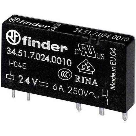 Relais pour circuits imprimés Finder 34.51.7.060.5010 34.51.7.060.5010 60 V/DC 6 A 1 inverseur (RT) 1 pc(s)