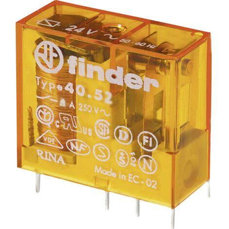 Relais pour circuits imprimés Finder 40.52.8.024.0000 40.52.8.024.0000 24 V/AC 8 A 2 inverseurs (RT) 1 pc(s)