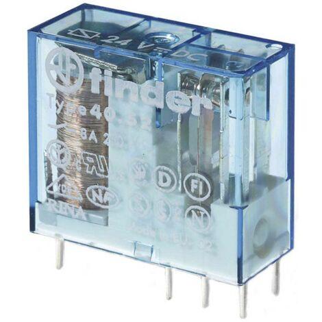 Relais pour circuits imprimés Finder 40.52.9.060.0000 40.52.9.060.0000 60 V/DC 8 A 2 inverseurs (RT) 1 pc(s)