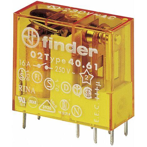 Relais pour circuits imprimés Finder 40.61.8.012.0000 40.61.8.012.0000 12 V/AC 16 A 1 inverseur (RT) 1 pc(s)