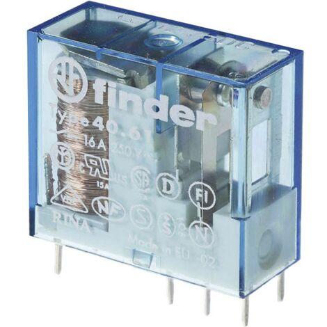 Relais pour circuits imprimés Finder 40.61.9.012.4000 40.61.9.012.4000 12 V/DC 16 A 1 inverseur (RT) 1 pc(s)