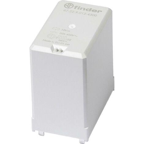Relais pour circuits imprimés Finder 67.22.9.012.4300 67.22.9.012.4300-1 12 V/DC 50 A 2 NO (T) 1 pc(s) A948401