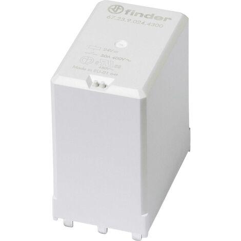 Relais pour circuits imprimés Finder 67.23.9.008.4300 67.23.9.008.4300-1 8 V/DC 50 A 3 NO (T) 1 pc(s) A948621
