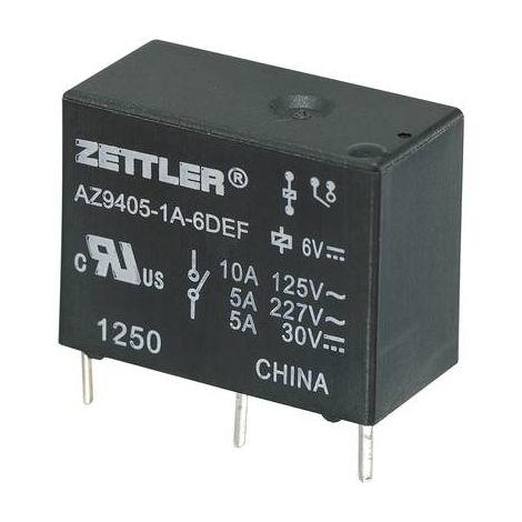 Relais pour circuits imprimés Zettler Electronics AZ9405-1A-9DEF 275849 9 V/DC 10 A 1 NO (T) 1 pc(s)