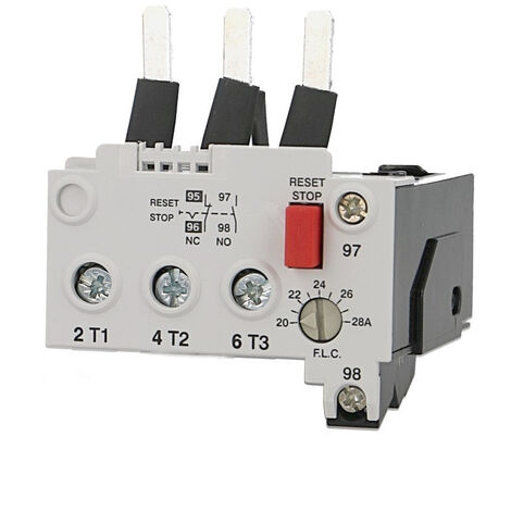 Relais thermique pour contacteur IMO MC32 à MC40, réglable de 20 à 28A