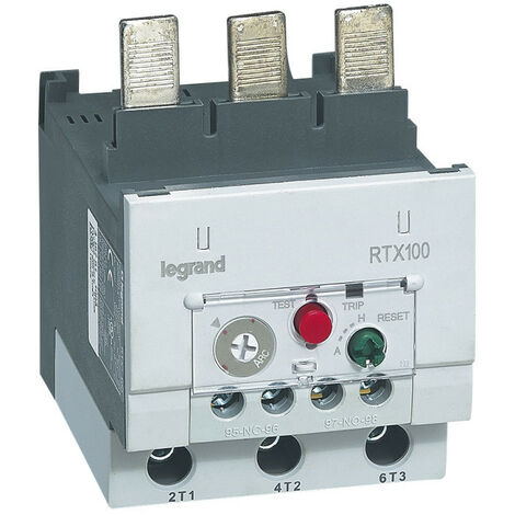 Relais thermique RTX100 pour contacteurs CTX100 contacts auxiliaires intégrés 1NO+1NF 45A à 65A (416747)