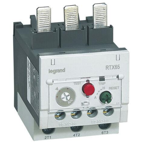 Relais thermique RTX65 pour contacteurs CTX65 contacts auxiliaires intégrés 1NO+1NF 45A à 65A (416710)