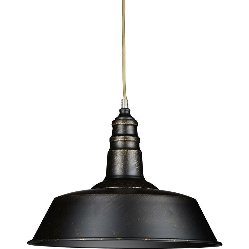 Lampadario a Soffitto, Design Industrial, Lampada a Sospensione per Salotto, Sala da Pranzo, Camera, Nero