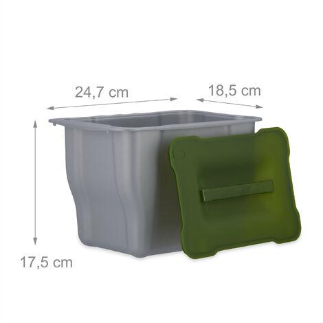 Relaxdays Einbaumülleimer Küche, Auszug, Müllsystem