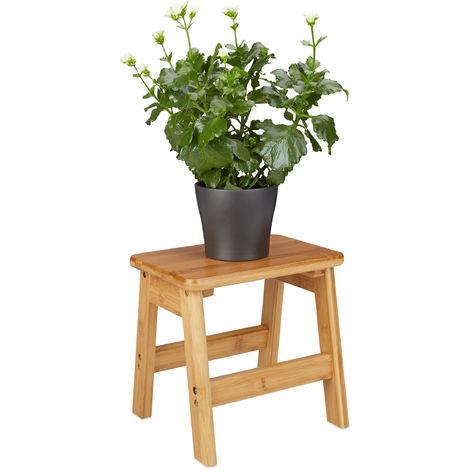 – Banco para niños RUSTICO, hecho de bambú, 27 x 29 x 24 cm, asiento taburete, madera, color natural