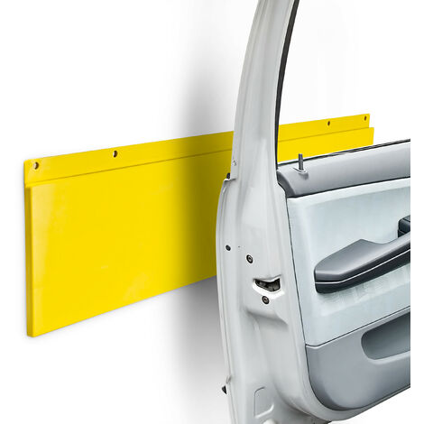 Relaxdays Car Door Protector For Garage Or Driveway For Wall Mounting Guard 64 X 17.5 cm (25.2 x 6.9 in), Yellow