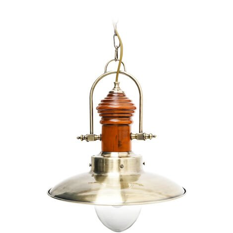 Relaxdays Ceiling Lamp Pendant Lamp Hanging Light Industrial Design Brass Look