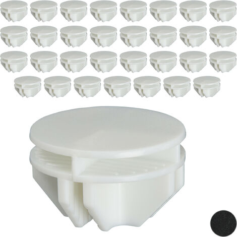 Relaxdays Connectors for Shelving Systems, Pack of 40, Shelf Adapters, Plastic Replacement Parts, White