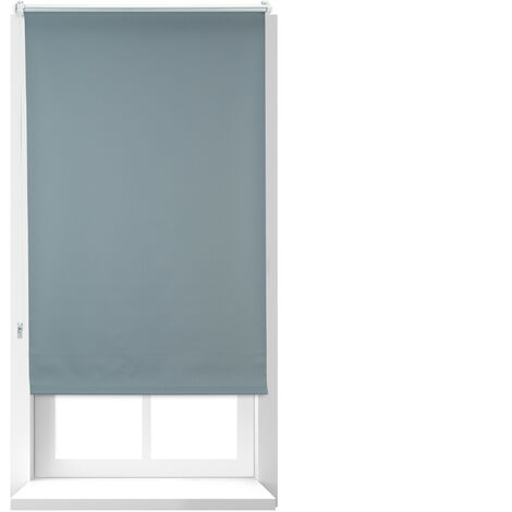 Relaxdays Darkening Blinds with Heat Protection, Thermal Roller, Side-Pull Roller Blind, 60x160 cm, Fabric 56 cm, Grey