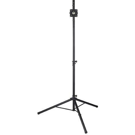 Relaxdays Dartboard Stand, Mobile & Height-Adjustable, Folding TV & Speaker Tripod, Iron, HWD: 195 x 115 x 100 cm, Black