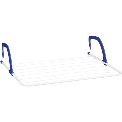 Relaxdays Drying Rack, Hanging Clothes Aires, For Radiator and Balcony, Large Dryer, 4.8 m, White