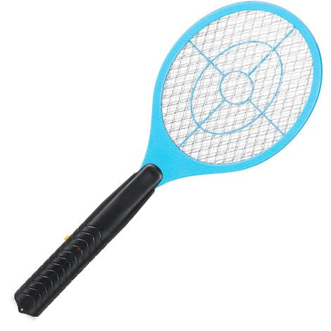 Relaxdays Electric Fly Swatter, No Chemicals, Zapper Against Mosquitos & More, Insect Killer, Blue