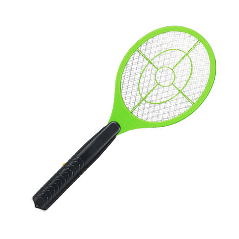 Relaxdays Electric Fly Swatter, No Chemicals, Zapper Against Mosquitos & More, Insect Killer, Green