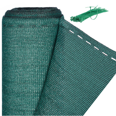 Relaxdays Fence Netting, Privacy Shield For Fences & Railing, HDPE Net, UV-resistant, Weatherproof, 1.8 x 50 m, Green