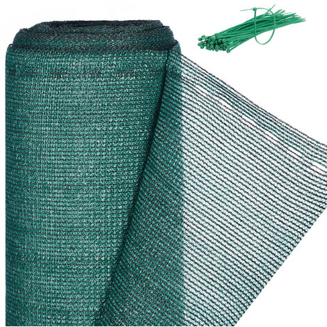 Relaxdays Fence Netting, Privacy Shield For Fences & Railing, HDPE Net, UV-resistant, Weatherproof, 1x20m, Green