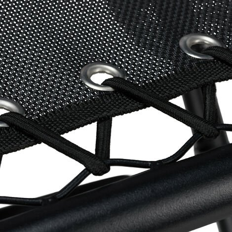 Relaxdays Folding Camping Table with Cup Holder, Collapsible, Lightweight, Iron & Polyester, Picnic, 53x50x50cm, Black