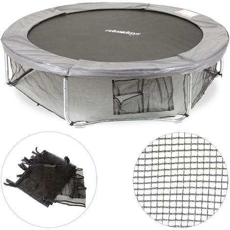 Relaxdays Garden Trampoline Frame Net, Ground Security Netting, Accessory for Round Bouncers, Ø 182cm, Black