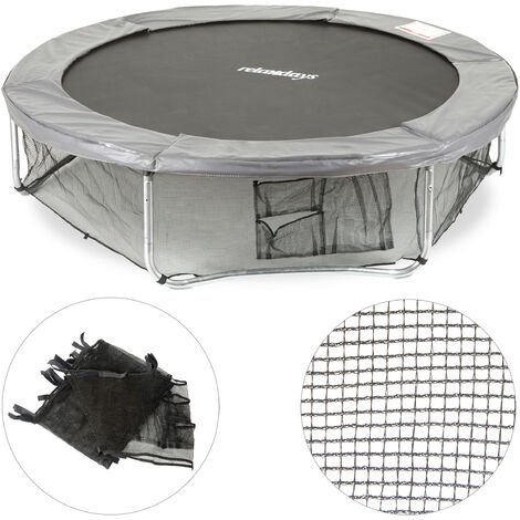 Relaxdays Garden Trampoline Frame Net, Ground Security Netting, Accessory for Round Bouncers, Ø 244cm, Black