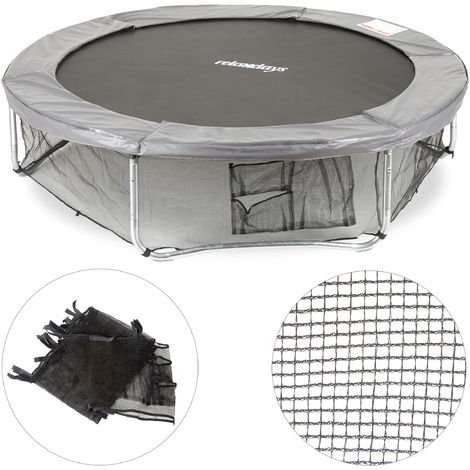 Relaxdays Garden Trampoline Frame Net, Ground Security Netting, Accessory for Round Bouncers, Ø 427cm, Black