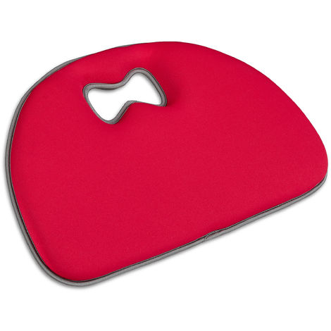 Relaxdays Gardening Kneeling Pad, Kneeler, Protective Pad, Soft Universal Mat with Handle, Polyester, Red