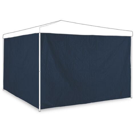 "main image of ""Relaxdays gazebo side panels, set of 2, marquee side wall, waterproof, PE, PVC, pergola covers, dark blue"""