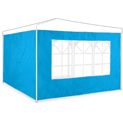 """main image of """"Relaxdays gazebo side panels, set of 2, marquee wall with window, waterproof, pergola covers, light blue"""""""
