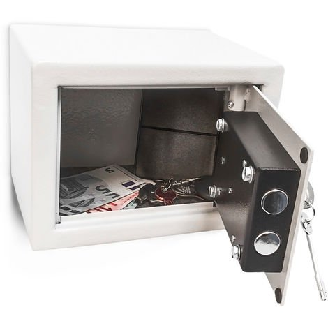 Relaxdays Home/Office Mini Steel Safe With 2 Locking Bolts & 2 Keys Free-Standing Or Wall Mounted 23 x 17 x 17 cm