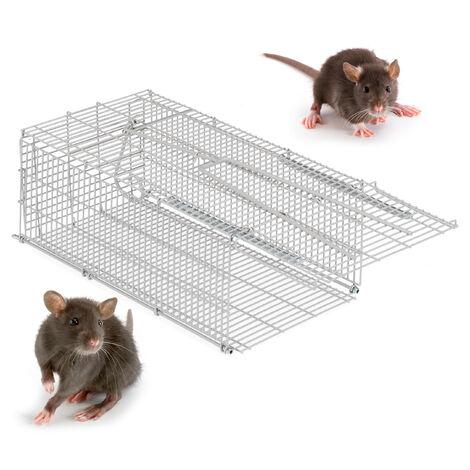 Relaxdays Humane Bait Trap, For Mice, Rodents etc, Sturdy & Animal Friendly, BWD 27x19.5x35.1 cm, Silver