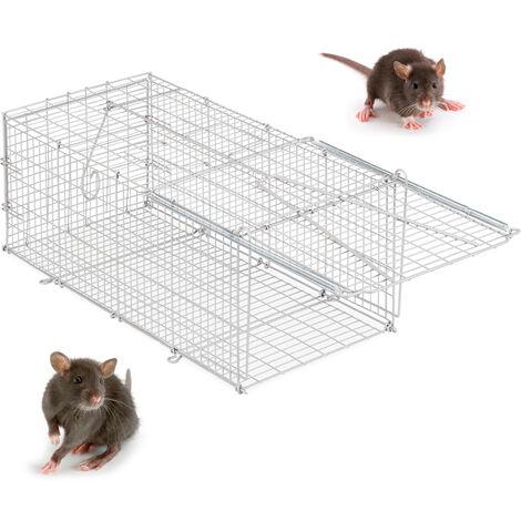 Relaxdays Humane Bait Trap, For Mice, Rodents etc, Sturdy & Animal Friendly, HWD 38x34x62.5 cm, Silver