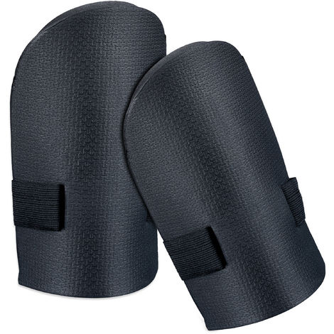 Relaxdays Knee Guard For the Garden, Soft Knee Pads, Knee Protectors With Hook & Loop Fastener, Knee Padding Pair, Black