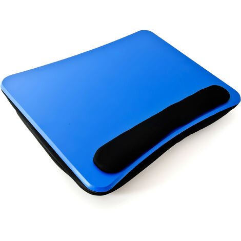 Relaxdays Laptop Cushion, Lapdesk, Notebook Stand or Travel Desk, Blue