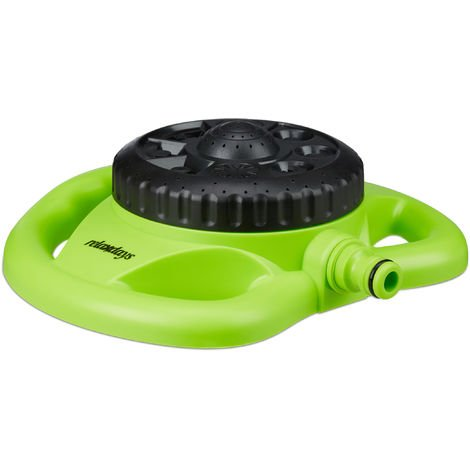 "Relaxdays Large Area Sprinkler with 8 Options, 78m², 1/2"" Water Supply, Green-Black"