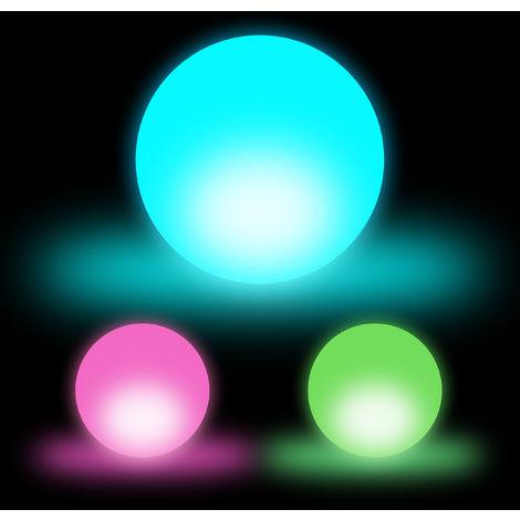 Relaxdays LED Ball Mood Lighting, LED Night Light, 3D Decor Light, 3-Piece Set, Colour Switch, D: 7.5 cm, White