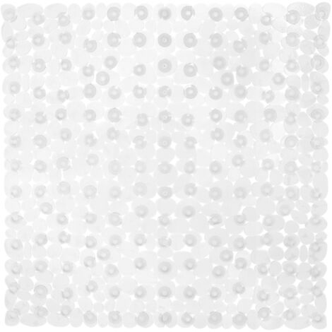 Relaxdays Non-Slip Bathtub Mat, Stone-Like Aspect, Suction Cups, Washable, Square, 53 x 53 cm, Various Colours