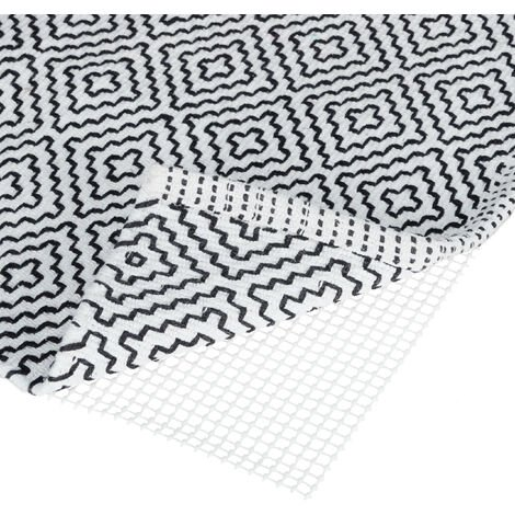 Relaxdays Non-Slip Rug Pad, Customisable Carpet Underlay Mat, Anti-Slip Applique, WxD: 80x200 cm, White